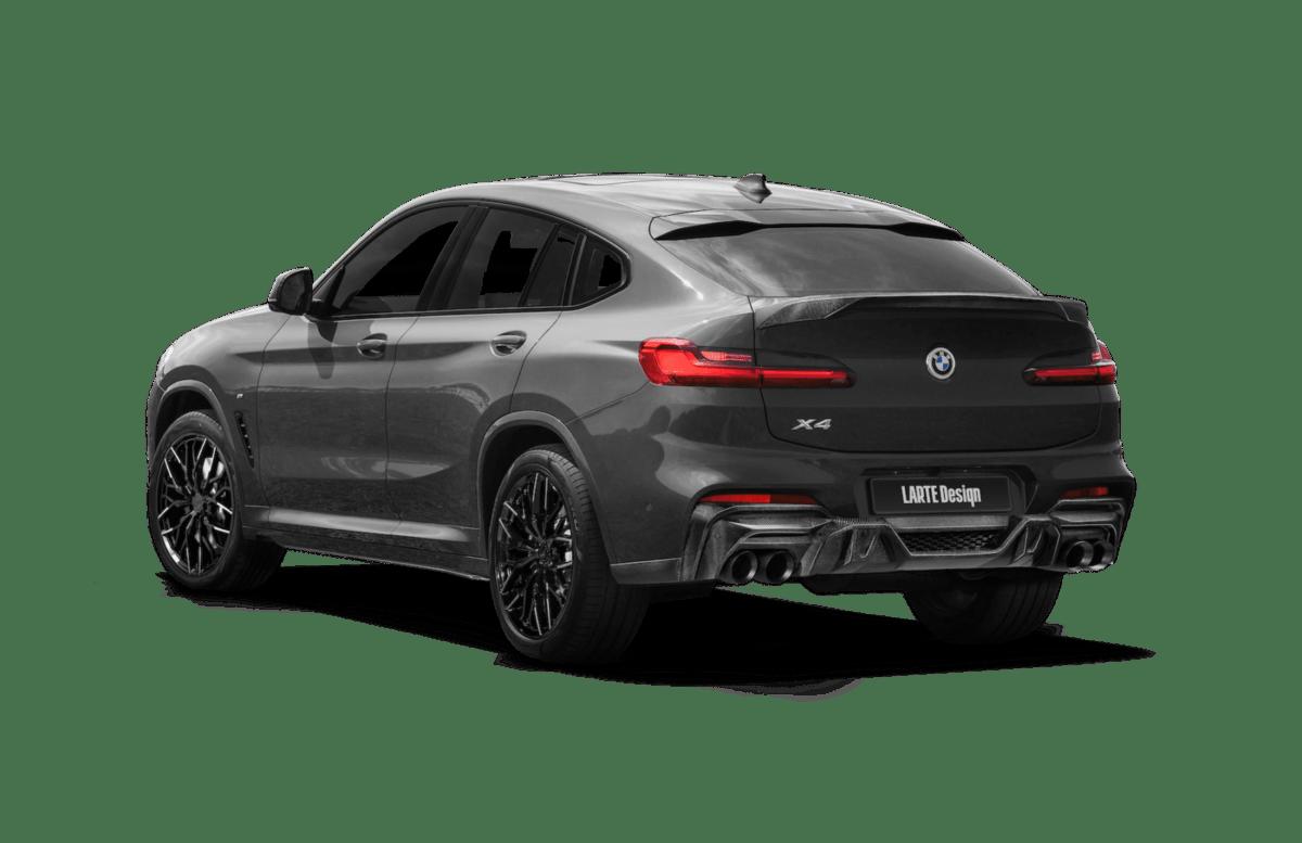 Серый BMW X4 от Larte вид сзади