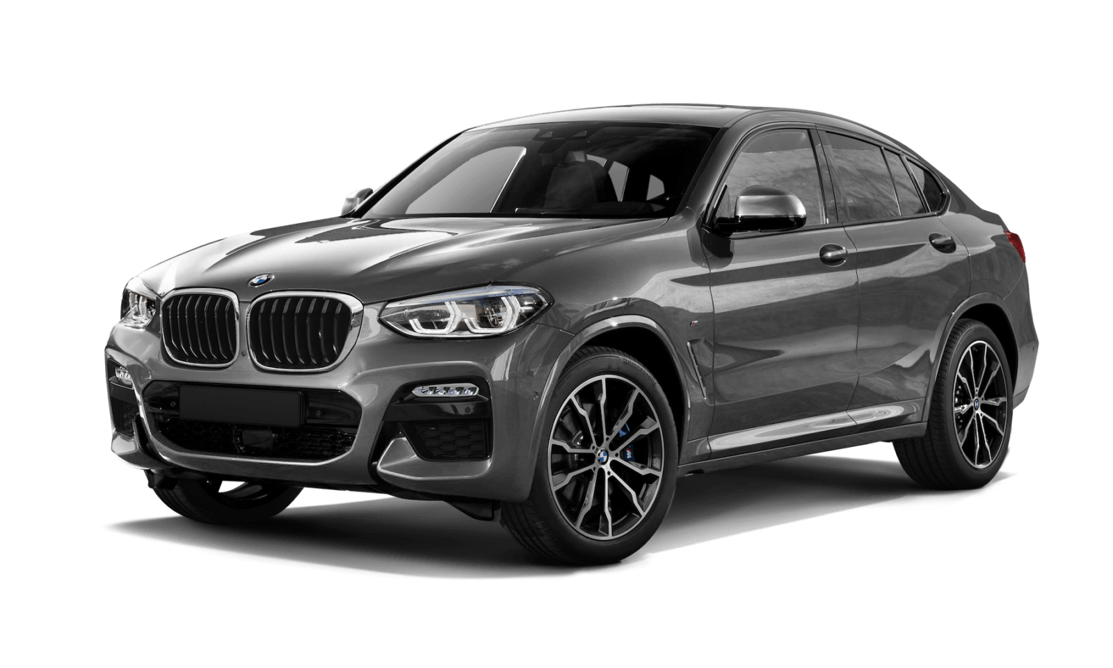 Серый BMW X4вид спереди