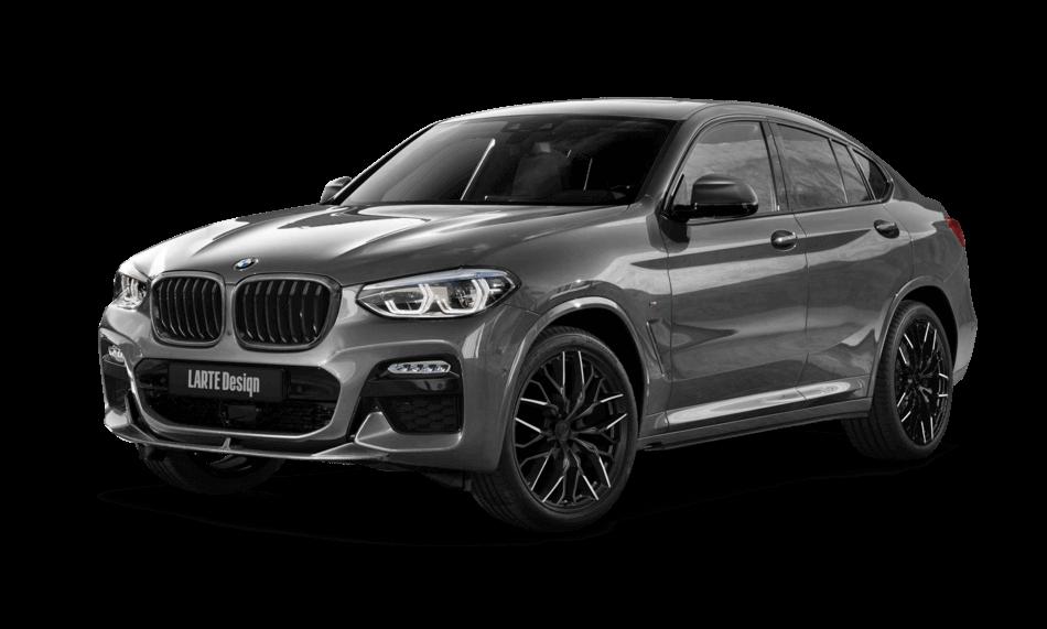 BMW X4 GO2 в обвесе от Larte вид спереди