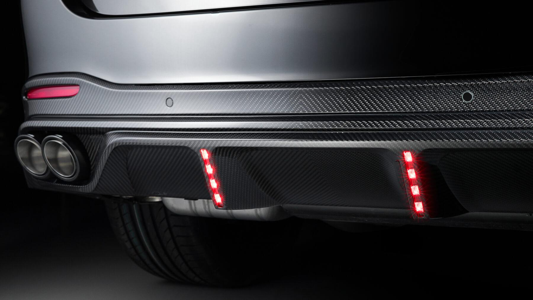Задний диффузор на Mercedes-Benz GLE от Larte