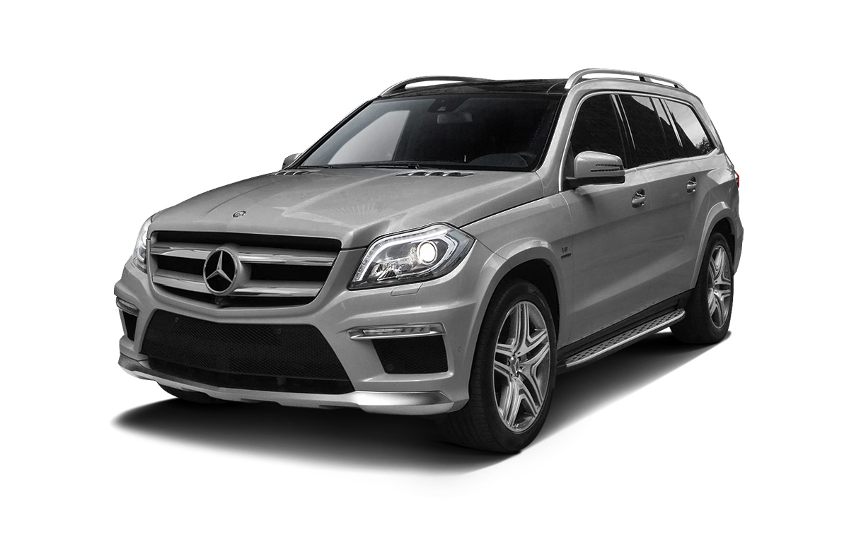Вид сбоку Mercedes-Benz GL X166