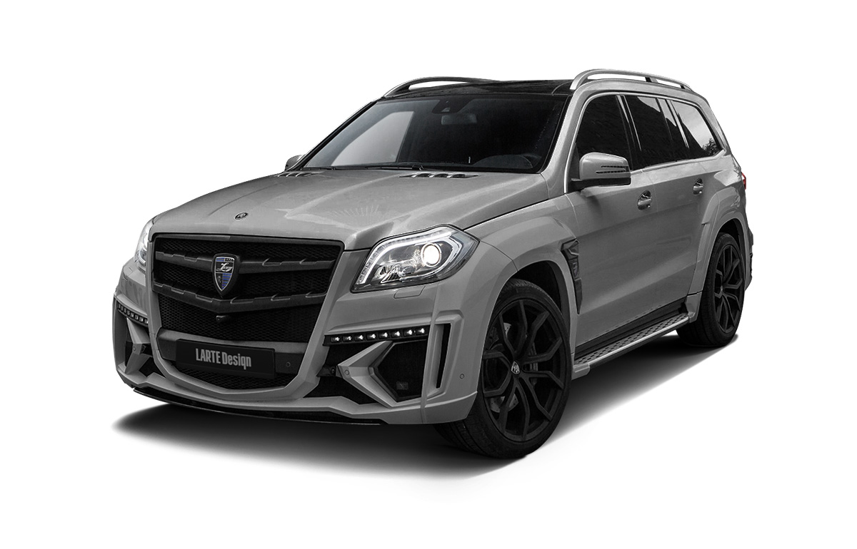 Серый Black Crystal для Mercedes-Benz GL X166 вид сбоку