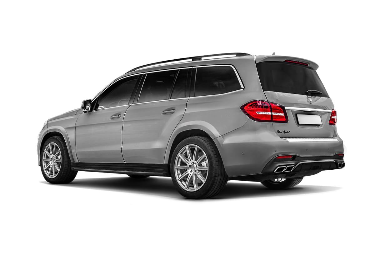 Серый Mercedes-Benz GLS X166вид сзади