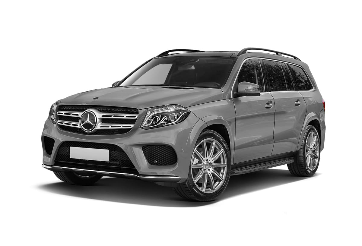 Серый Mercedes-Benz GLS X166