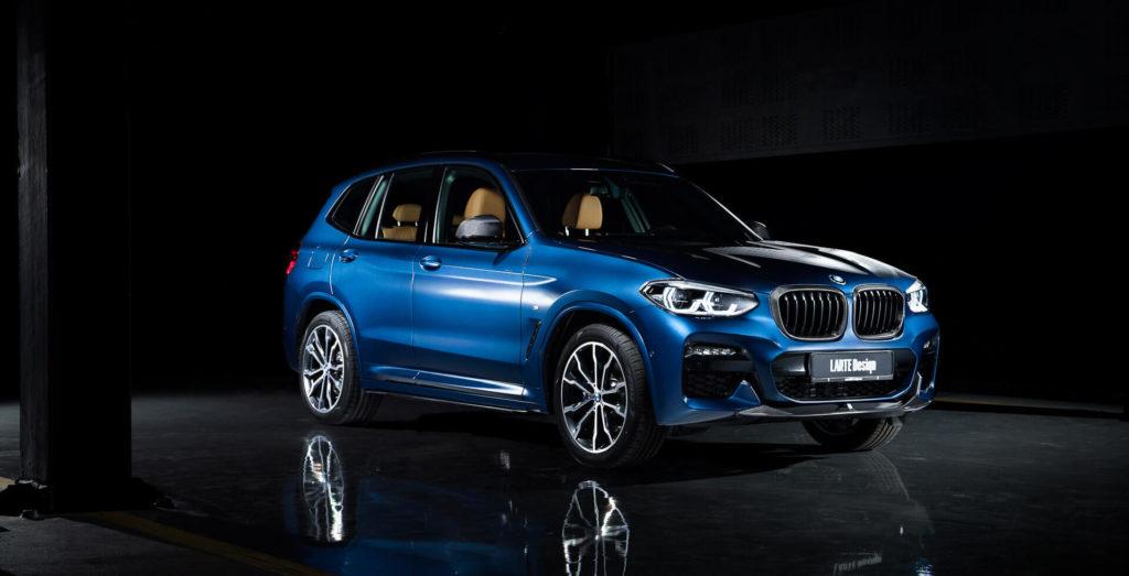 Синий BMW X3 xDrive 20d AT xLine