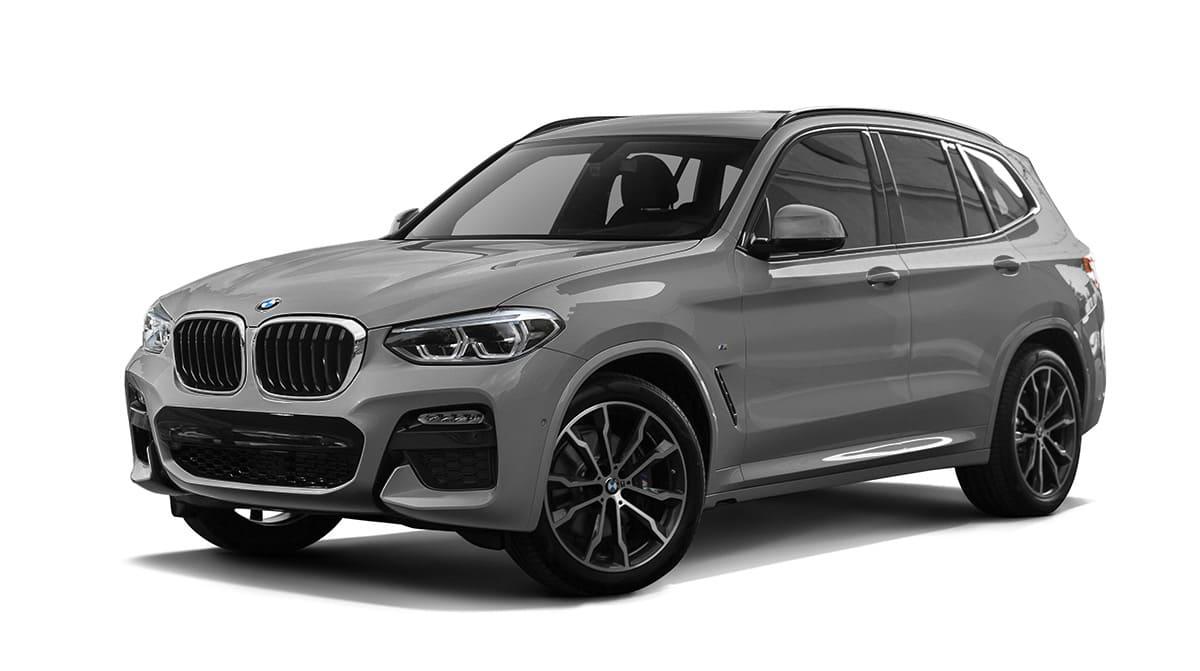 Серый BMW X3 G01 вид спереди