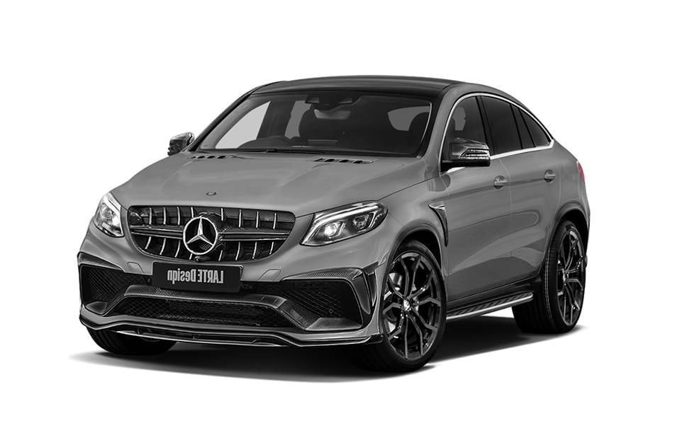 Серый Mercedes Benz GLE Coupe вид сбоку