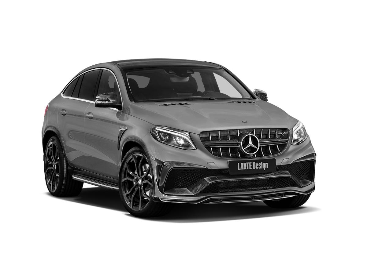 Серый Mercedes-Benz GLE Coupe с комплектом тюнинга от Larte