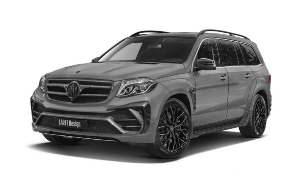 Серый Mercedes Benz GLS X166 вид сбоку