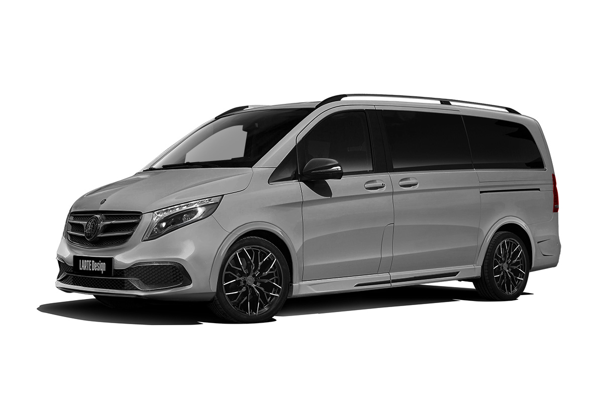 Серый Black Crystal Light для Mercedes V-Class вид сбоку