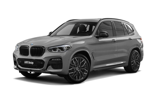 Gray BMW X3 from Larte side view