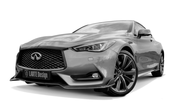Infiniti Q60 coupe tuned by Larte Design on a transparent background
