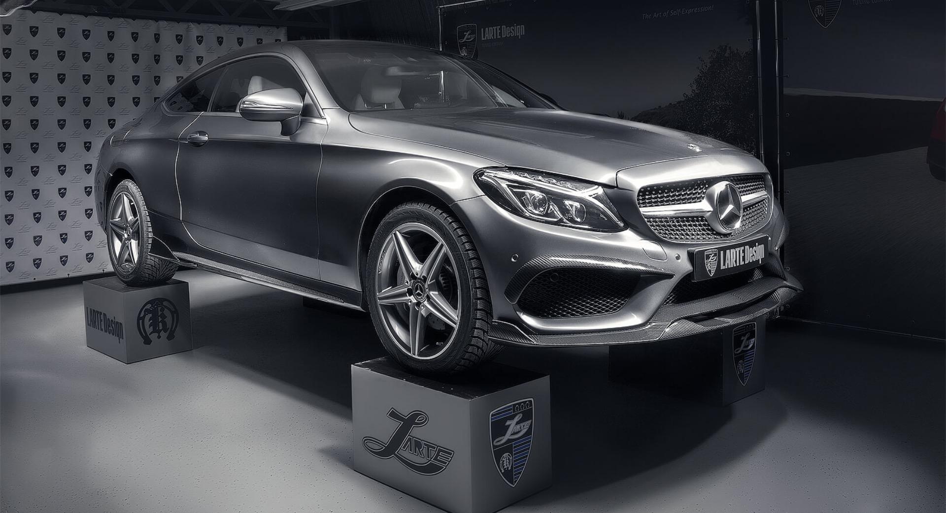 Серый Mercedes-Benz C-class Coupe