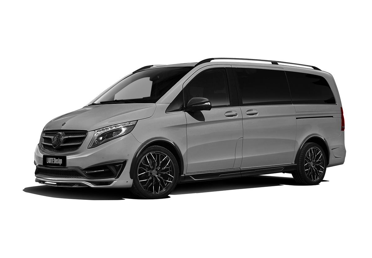 Gray Mercedes-Benz V-class with body kit from Larte