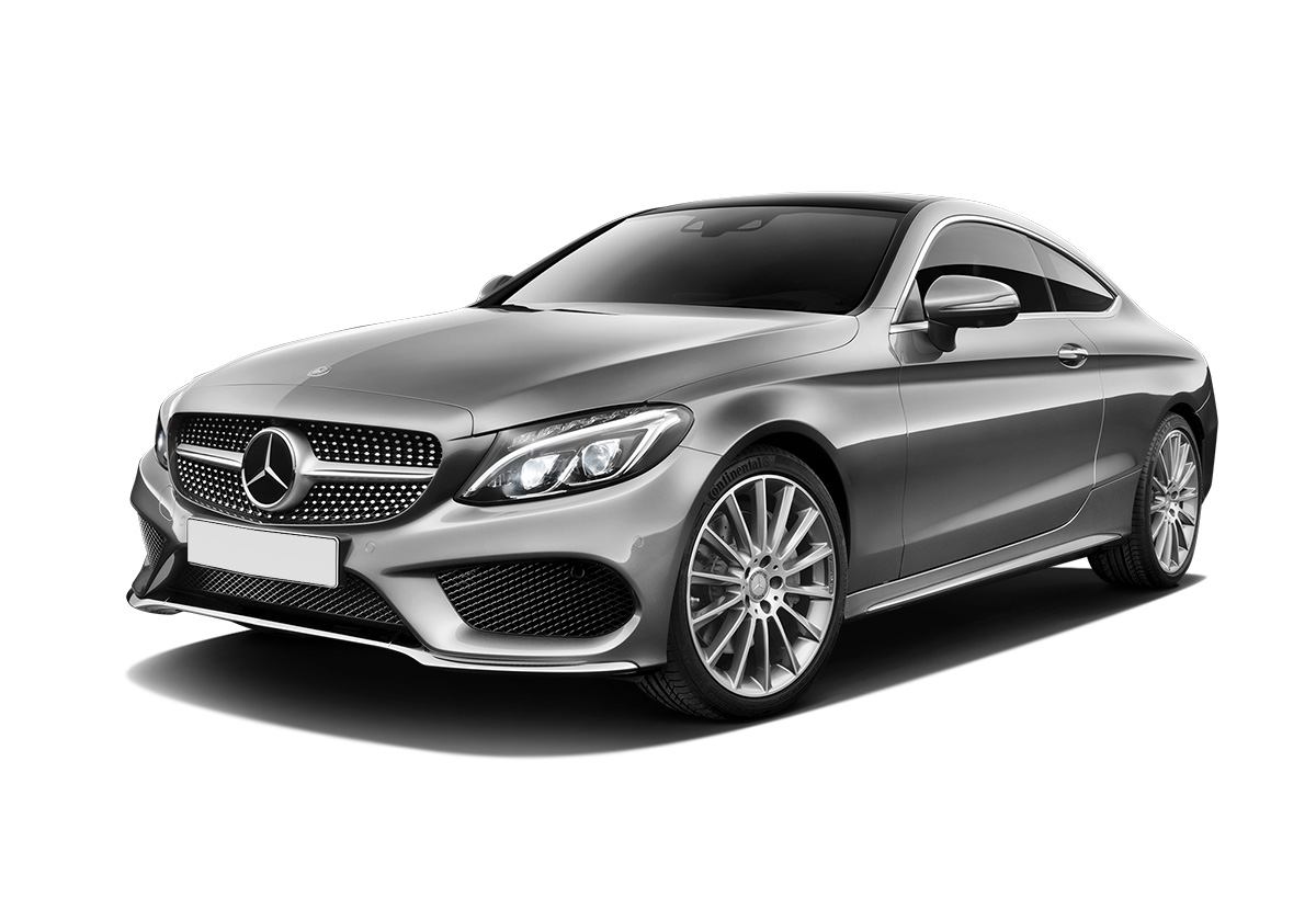 Серый Mercedes-Benz C-class Coupe W205