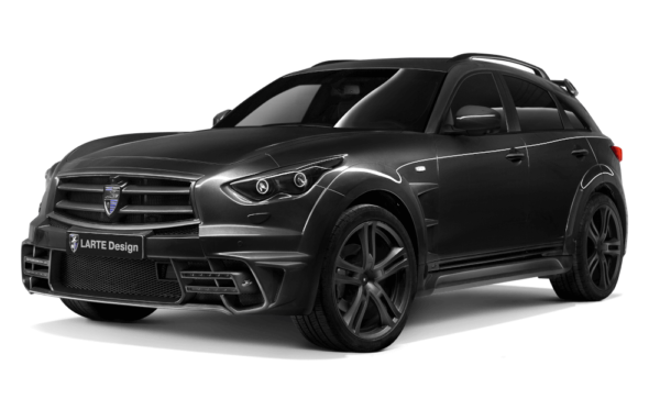 Infiniti QX70 tuned by Larte Design on a transparent background