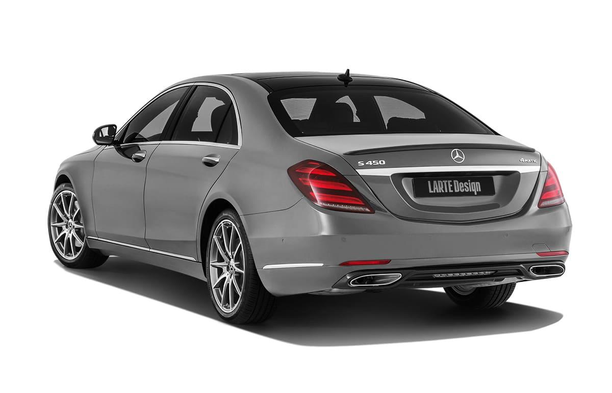 S-class Mercedes-benz с обвесом от Larte Design - вид сзади