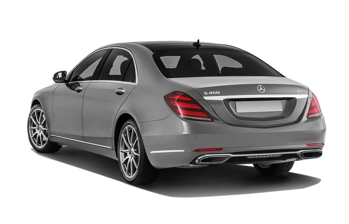S-class Mercedes-benz вид сзади