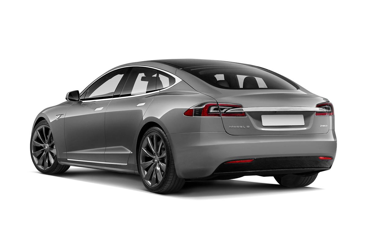 Tesla Model S вид сзади